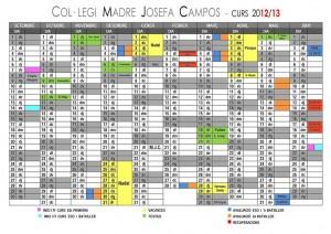 Calendario Escolar Curso 2012-13